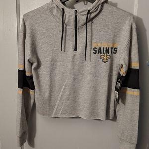 New Orleans Saints Women's Crop Top Sweatshirt M